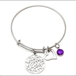 Jewelry - Birthstone bangle charm Mom bracelet